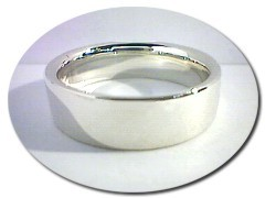 Gents 14 ct White Gold Ring.
