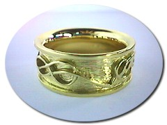 Scottish Gold Celtic Bird Ring.