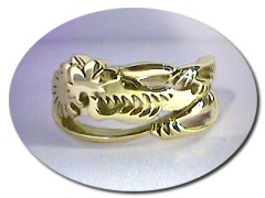 18 ct Gold Dragon Ring.