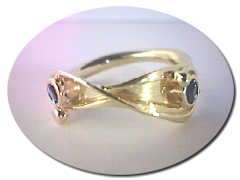 Twin Sapphire Ring.