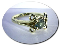 Celtic Sapphire Ring.